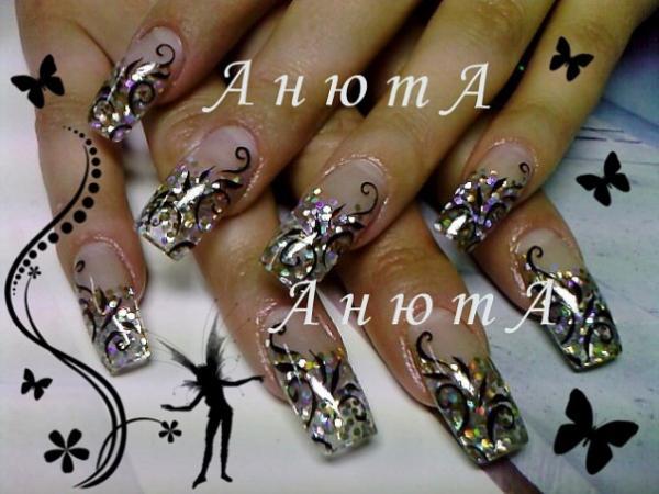 Дизайн нарощенных ногтей дома