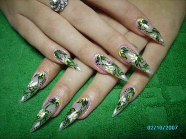 современный дизайн ногтей: